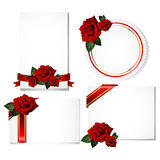 Greeting card with rose Stock Photos