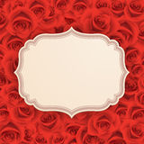 Greeting card with rose Royalty Free Stock Photo