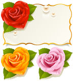 Greeting card with rose 5. Greeting card with rose in the shape of heart Stock Photography