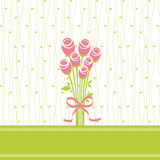 Greeting card with rose flowers Royalty Free Stock Photos