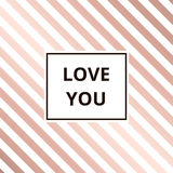 Greeting card rose gold background vector Stock Image