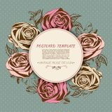 Greeting card with rose. Vintage style. Vector Stock Photography