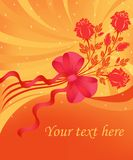 Greeting card with roses Stock Photography