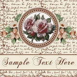 Greeting card. Roses. Beautiful frame. Stock Images