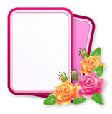 Greeting card with  roses Royalty Free Stock Photo