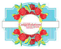 Greeting card with roses Stock Photo
