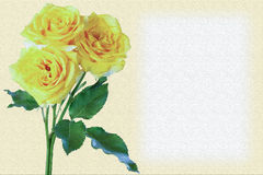 Greeting card and roses Stock Image
