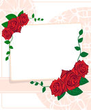 Greeting card with roses Stock Images