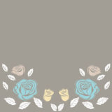 Greeting card roses wedding birthday holiday background. Stock Photos