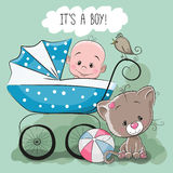 Greeting card it's a boy Stock Images