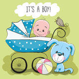 Greeting card it's a boy Royalty Free Stock Photos