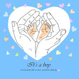 Greeting card it`s a boy Royalty Free Stock Photos