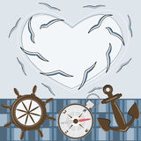 Greeting card for sailor Royalty Free Stock Images