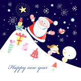 Greeting card with Santa Claus Royalty Free Stock Images
