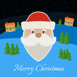 Greeting card with Santa Stock Photography