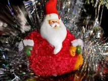 Greeting card with Santa Claus for congratulations with New Year and Christmas Royalty Free Stock Photos