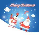 Greeting card with Santa Claus Royalty Free Stock Photo