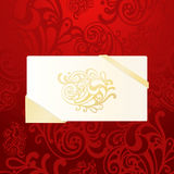 Greeting card on seamless Stock Images