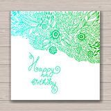 Greeting card set with abstract background Stock Images