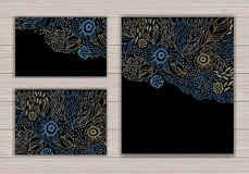 Greeting card set with abstract background Royalty Free Stock Images