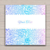 Greeting card set with abstract background Royalty Free Stock Image