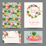 Greeting Card Set Royalty Free Stock Photography