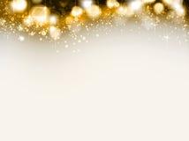 Greeting card. Shine Christmas brown greeting card Royalty Free Stock Photo