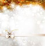 Greeting card. Shine Christmas brown greeting card Royalty Free Stock Photography