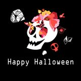 Greeting card with skull to Halloween Royalty Free Stock Image