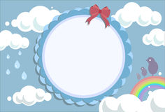 Greeting Card - Sky background Stock Image