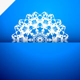 Greeting card with snowflake Stock Photos