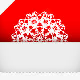 Greeting card with snowflake Royalty Free Stock Image