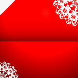 Greeting card with snowflake Royalty Free Stock Photo