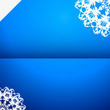 Greeting card with snowflake Royalty Free Stock Photos