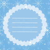 Greeting card with snowflakes. Merry Christmas and Happy New Year vintage card. Stock Photography