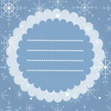 Greeting card with snowflakes. Merry Christmas and Happy New Year vintage card. Stock Photos