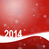 Greeting card with snowflakes. New year greeting card with snowflakes Stock Image