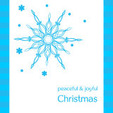 Greeting card with snowflakes Royalty Free Stock Image