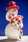 Greeting card with a snowman Royalty Free Stock Image
