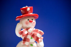 Greeting card with a snowman Stock Photography