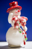 Greeting card with a snowman Stock Photo