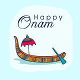 Greeting card for South Indian festival, Onam. Stock Image