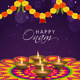 Greeting card for South Indian festival, Onam. Royalty Free Stock Photo