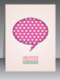 Greeting card with speech bubble for Valentines day Royalty Free Stock Photography