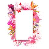 Greeting card with spray grunge background Stock Photos