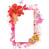Greeting card with spray grunge background Royalty Free Stock Images