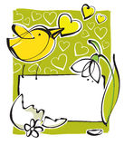 Greeting card, spring theme Royalty Free Stock Photography