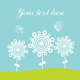 Greeting card, spring theme. Stock Photo