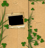 Greeting Card St. Patrick on old paper Royalty Free Stock Image