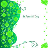Greeting card for St. Patrick's Day Stock Image